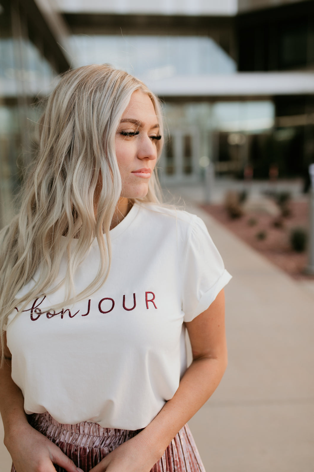 Toulouse Embroidered Bonjour Tee