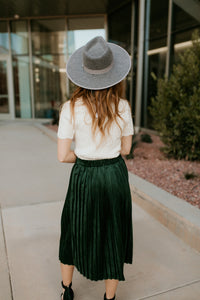Dallas Hunter Green Velvet Skirt