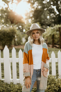 Park Meadows Striped Long Cardigan