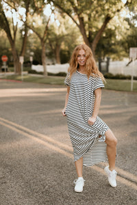 Okoboji Striped Maxi Dress