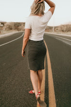 Load image into Gallery viewer, Parkland Striped Midi Skirt
