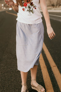 Logan Light Blue Skirt