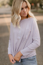 Load image into Gallery viewer, Pine Island Lavender Waffle Henley
