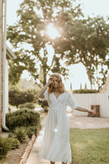 Hilton Head White Eyelet Dress