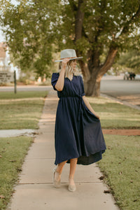 Oakridge Navy Wrap Dress
