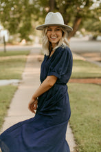 Load image into Gallery viewer, Oakridge Navy Wrap Dress