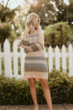 Load image into Gallery viewer, Quebec Striped Sweater Dress