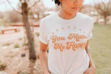 Load image into Gallery viewer, Village Co x Mom Shirt Co: You Make Me Happy Tee