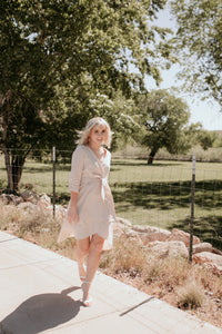 Uppsala Cream Wrap Dress