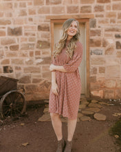 Load image into Gallery viewer, Waco Smocked Patterned Dress