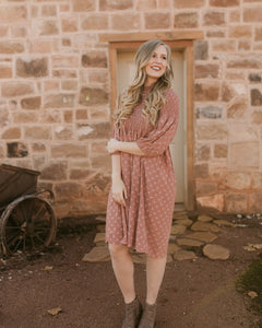 Waco Smocked Patterned Dress