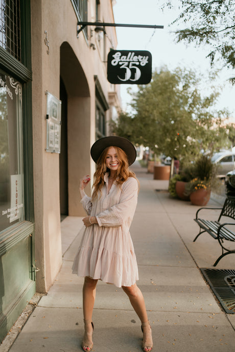 Bordeaux Blush Dress
