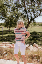 Load image into Gallery viewer, Chester Striped Blush Tee