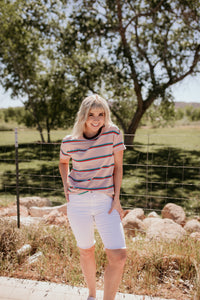 Chester Striped Blush Tee