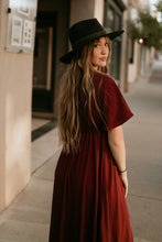 Load image into Gallery viewer, Fargo Burgundy Maxi Dress