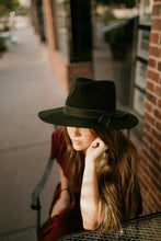 Load image into Gallery viewer, Costa Mesa Wide Brim Hat in Mustard