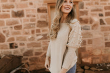 Load image into Gallery viewer, Little Valley Pom Pom Cream Sweater