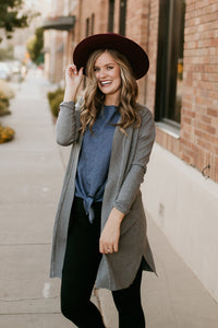 Bay Street Chambray Tie Top