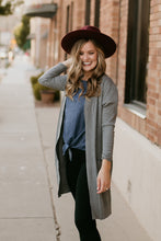 Load image into Gallery viewer, Milwaukee Long Essential Cardigan in Grey