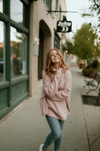 Stockholm Blush Chunky Sweater