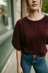 New Orleans Burgundy Top
