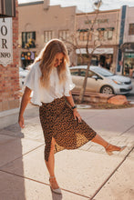 Load image into Gallery viewer, Houston Leopard Skirt