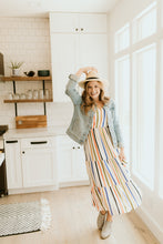 Load image into Gallery viewer, Liberty Park Multicolored Striped Dress