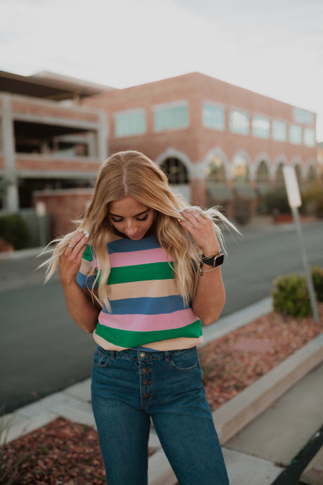 LAX Striped Top
