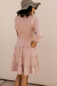 Laredo Clay Gingham Dress