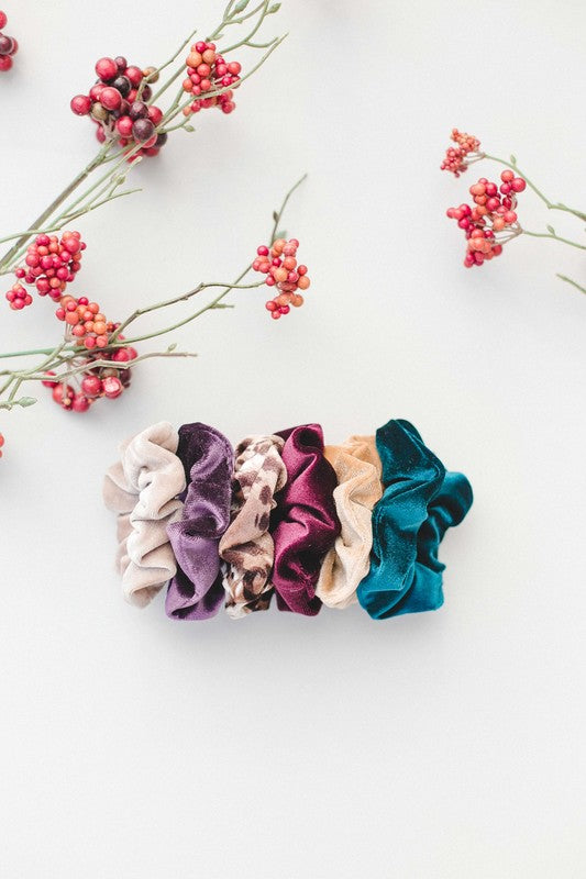 Seattle Scrunchie Collection: Classic Velvet in 6 Colors