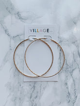 Load image into Gallery viewer, Sugarland Thin Textured Hoop Earrings