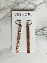 Load image into Gallery viewer, Gilbert Hammered Bar Earrings