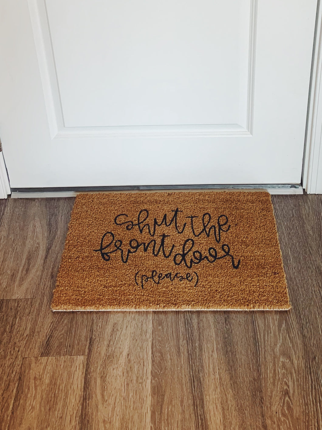 Village Co x Lottie Lane: Hand Painted Shut the Front Door Mat