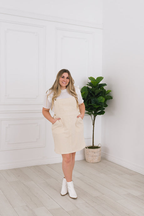 Geneva Cream Overall Jumper