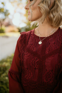 Montmartre Lace Dress in Wine