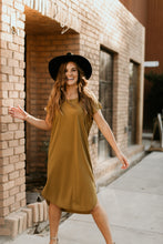 Load image into Gallery viewer, Lubbock Solid Dress in Ecru Olive