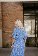 Load image into Gallery viewer, Seine Floral Dress in Blue