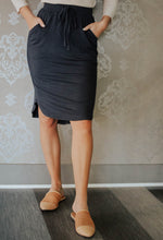 Load image into Gallery viewer, Carolina Navy Tie Skirt