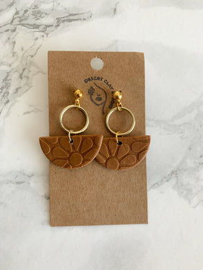 Mojave Desert Handmade Earring Collection: Clay and Gold