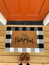Load image into Gallery viewer, Hey There Pumpkin Hand Painted Doormat