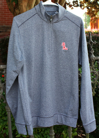 Ole Miss Quarter Zip Pullover