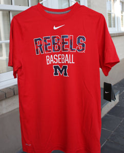 Rebels Baseball Nike T-Shirt - Youth
