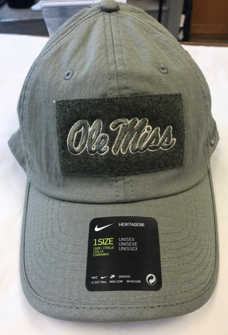 Green Ole Miss patch nike hat