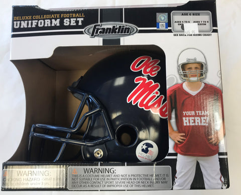 Deluxe Collegiate Football Uniform Set