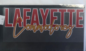 Lafayette Commodores Decal
