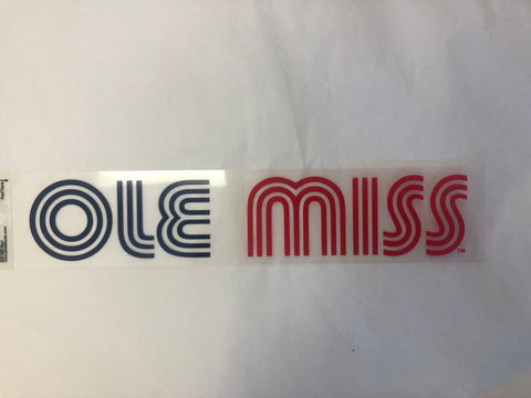 Retro Ole Miss Sticker