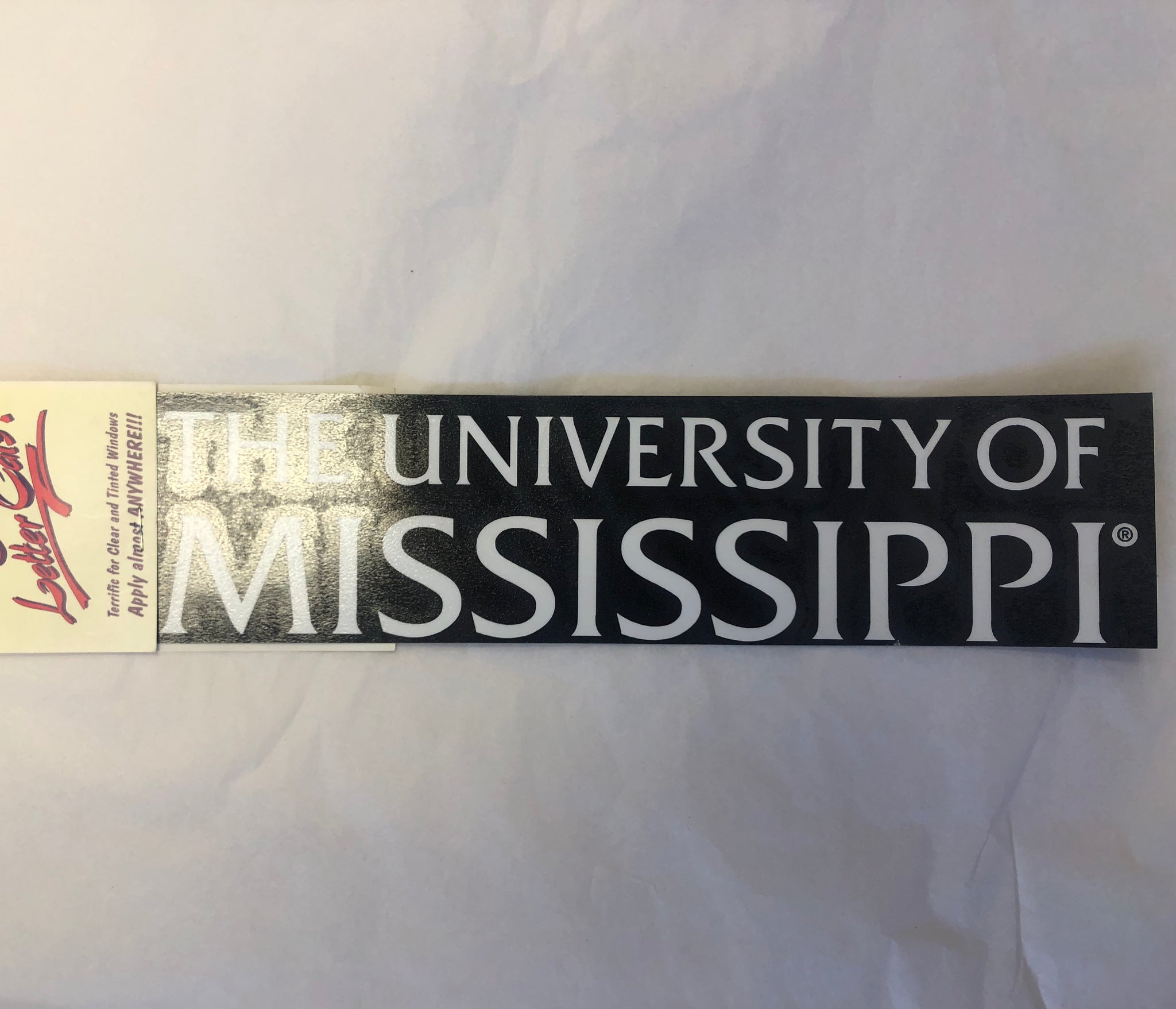 Large University of Mississippi Stacked Window Decal