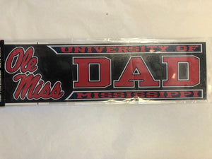Stack Script Ole Miss Dad Sticker