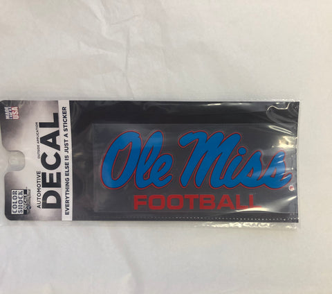 Powder Blue Ole Miss Football Sticker
