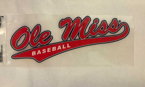 Small Ole Miss Baseball Decal
